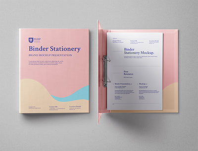 Ring Binder Folder Psd Mockup Top View