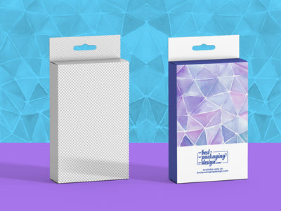 Rectangle Pharmacy or Shop Hanger Box PSD Mockup