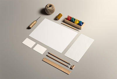 Art and Craft Stationery Mockup PSD