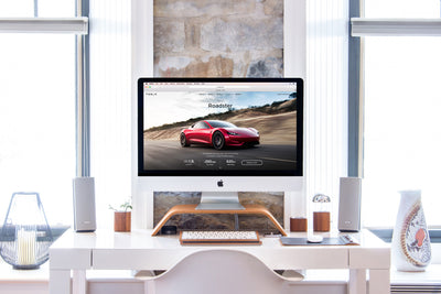 Stylish Workspace With iMac in a Bright Interior