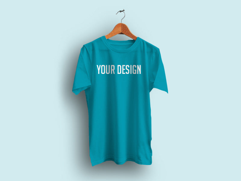 Realistic Hanging T Shirt Mockup With Empty Background Mockup Hunt