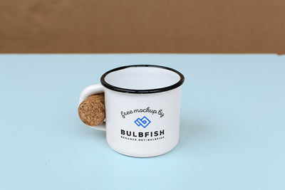 Clean and White Coffee Tin Mug Mockup