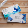 Watercolor Business Card Mockup Set