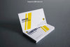 White and Yellow Business Card Mockups