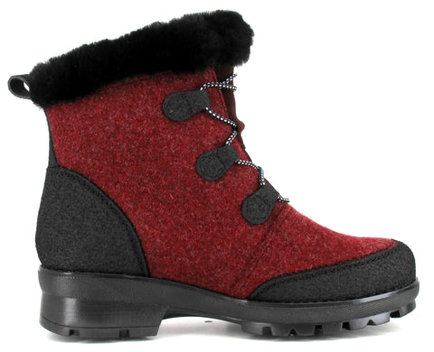 LUMI Women's Pomar GORE-TEX® ankle boot with winter spike sole