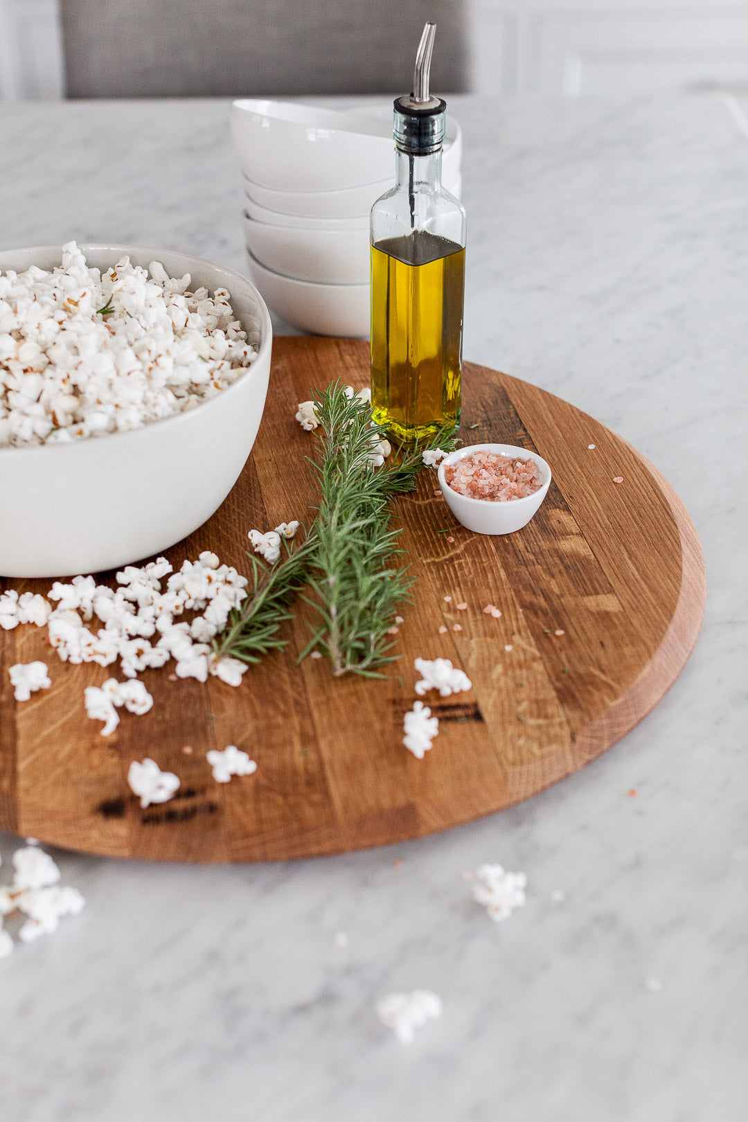 Rosemary, Sea Salt & Olive Oil Popcorn as shared on the Charlotte Today Show!