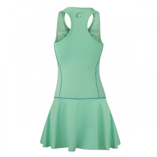 Women's Tennis Fit & Flair Dress in Honeydew Green