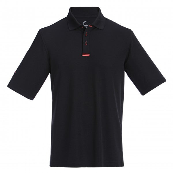 Collared Performance Polo with Neon Trim