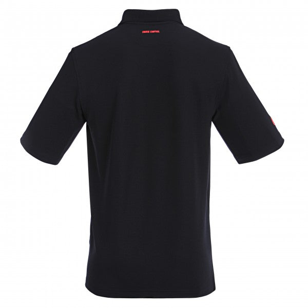 Men's Athletic Polo with Neon Trim in Black