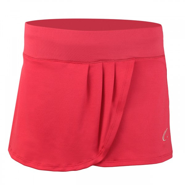 Women's Pleated Tennis Skort in Coral Pink