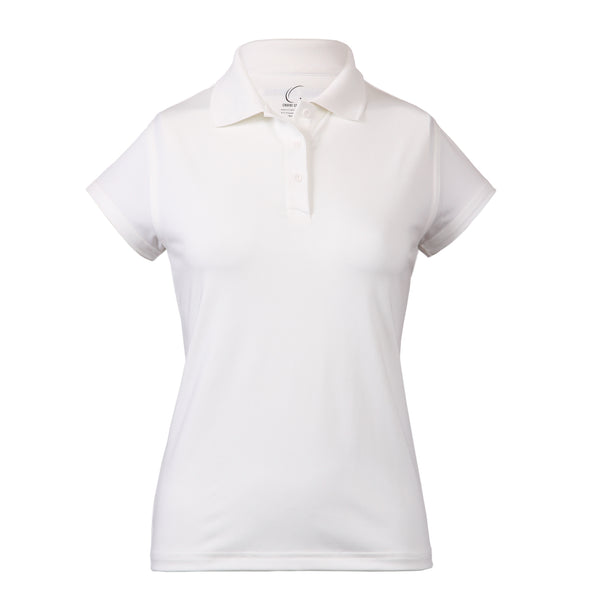 Women's Athletic Polo in White