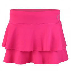 Women's Double Layered Tennis Skort in Pink Azalea