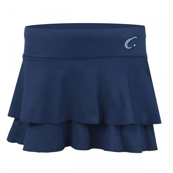 Women's Double Layered Tennis Skort in Navy