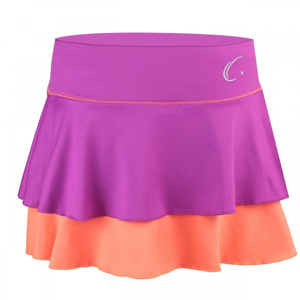 Women's Double Layered Tennis Skort in Pink and Peach