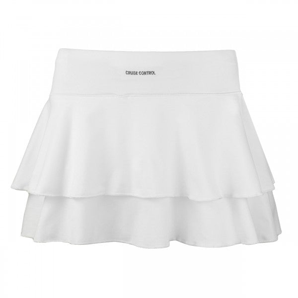 Women's Double Layered Tennis Skort in White