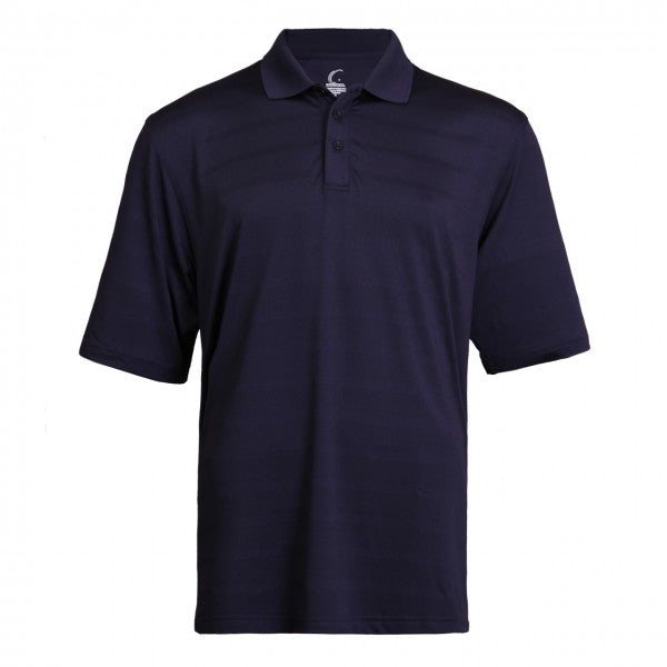 Men's Athletic Collared Jersey Pique Polo in Navy