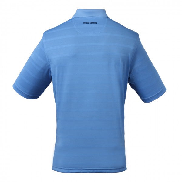 Men's Collared Jersey Pique Polo in Light Blue
