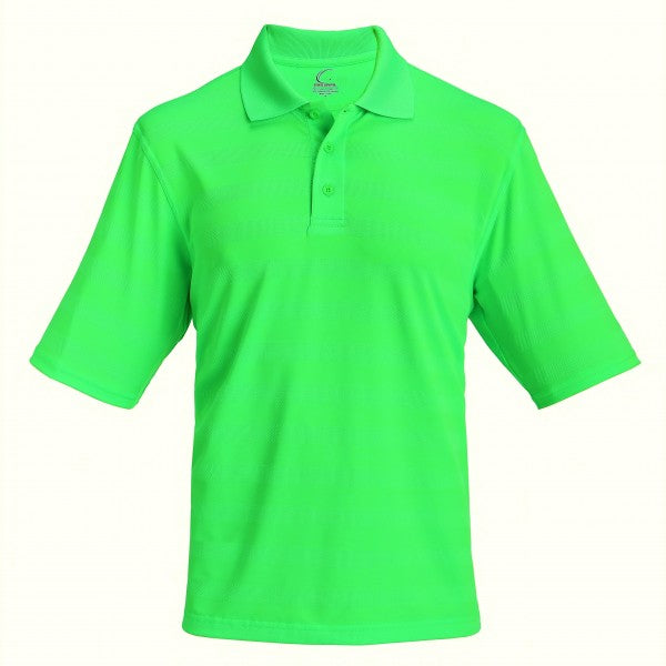 Men's Collared Jersey Pique Polo in Lime Green