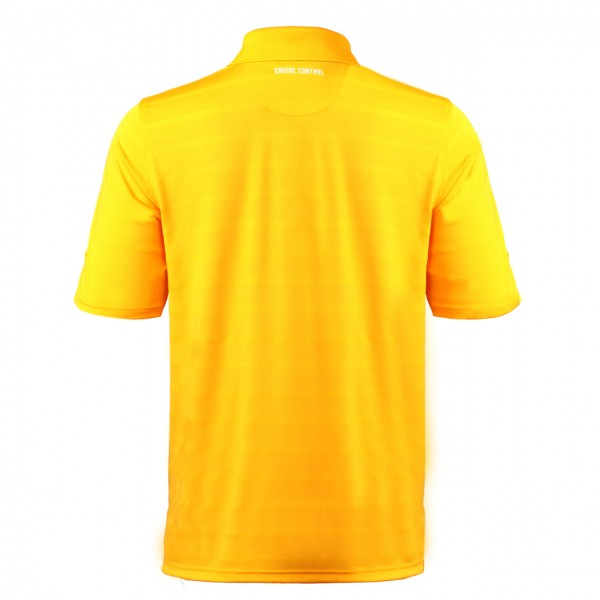 Men's Collared Jersey Pique Polo in Yellow