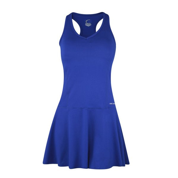 Women's Tennis Fit & Flair Dress in Blue