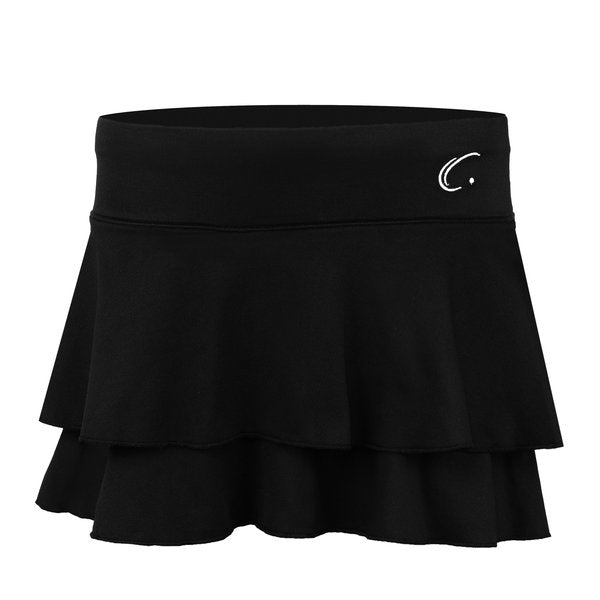Women's Double Layered Tennis Skort in Black