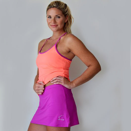 Women's Tennis Workout Skort in Violet
