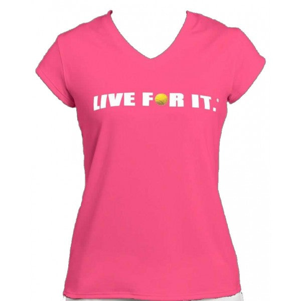 Live For It®  Cap-Sleeve Performance Tee