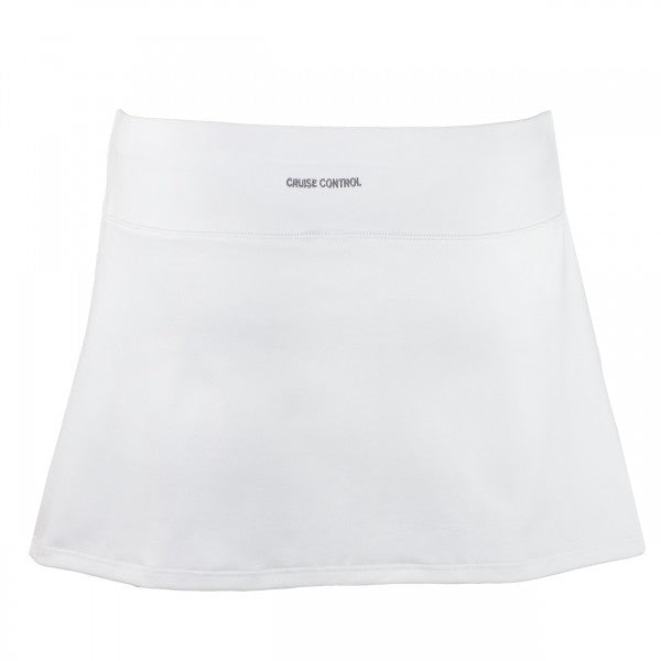Women's Pleated Tennis Skort in White