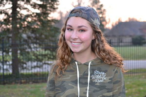 Stray Wild and Free Hoodie - Camo - The Stray Stitch