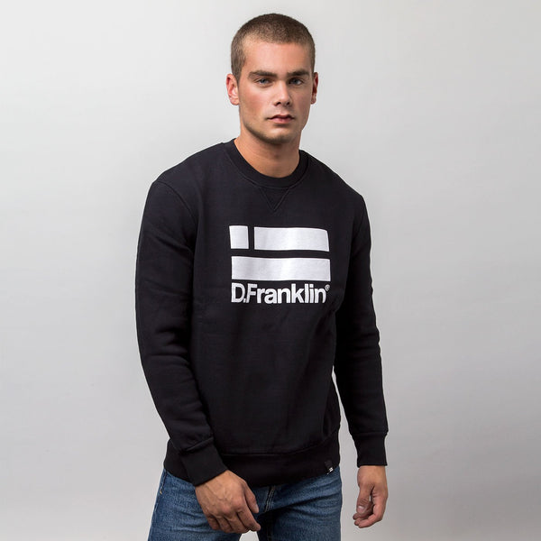 Sweatshirt Logo White / Black