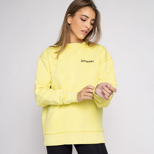 Sweatshirt Oversized Basic Yellow