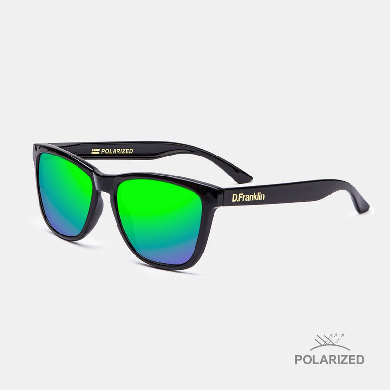 Roosevelt Shiny Black / Green Polarized