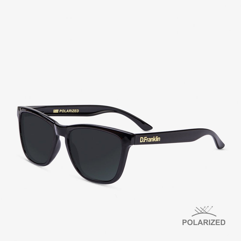 Roosevelt Shiny Black / Black Polarized