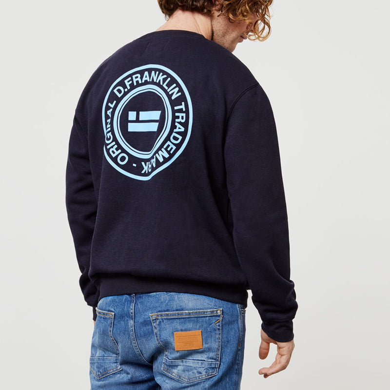 Crack Navy Sweatshirt