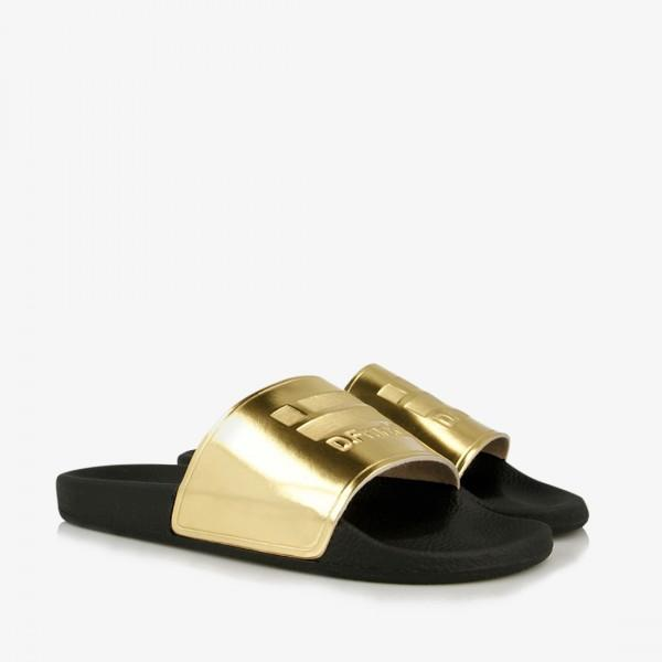Dagny Slides Gold