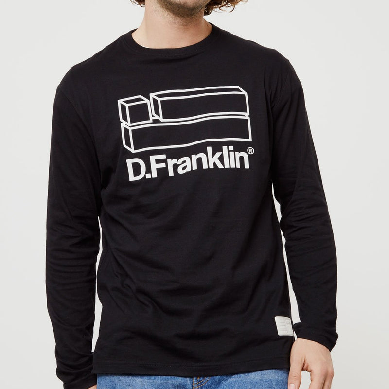 Flag Long Sleeve T-Shirt Black