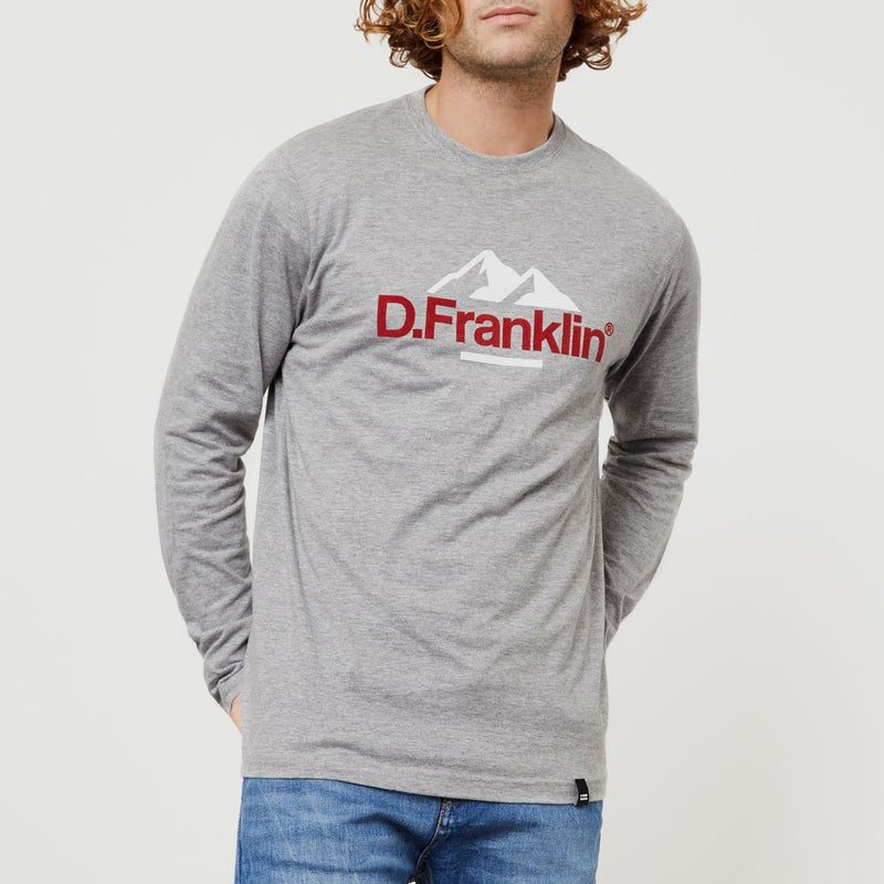 Mountain Long Sleeve T-Shirt Grey