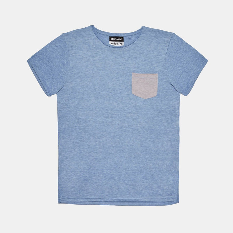 Pocket Blue / Grey Tee