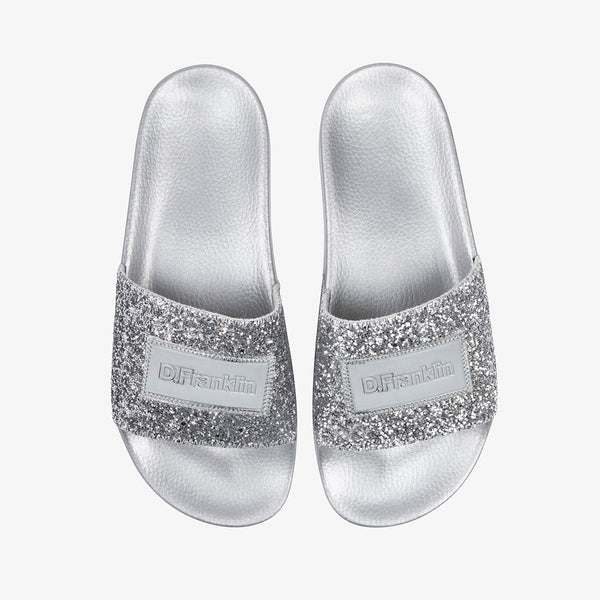 Glitter Label Slide Silver