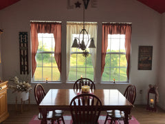 Primitive Muslin Swags, Country Style Swag Curtains