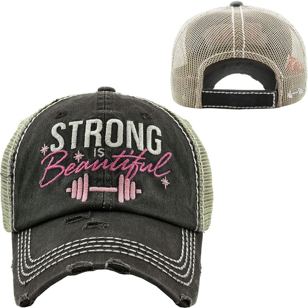 Grey Strong is Beautiful Truckers Hat - BJS Country Charm