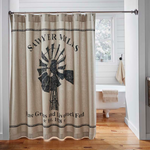 Farmhouse Primitive Sawyer Mill Windmill Shower Curtain