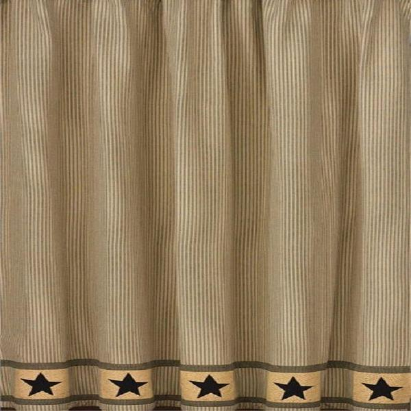 Primitive Star and Ticking Shower Curtains