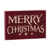Rustic Country Primitive Merry Christmas Engraved Sign