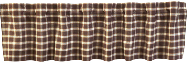 Country Primitive Rory valance Dark Brown Plaid - BJS Country Charm
