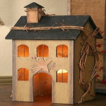 Primitive Tan Saltbox House Lamp