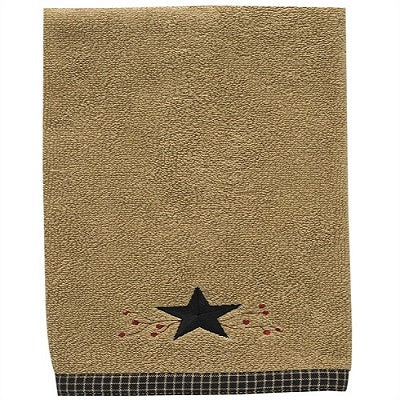 Primitive Star Vine Terry Fingertip Towel - BJS Country Charm