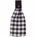 Farmhouse Black and White Check Oven Towel