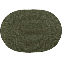 Country Primitive Cypress Green Jute Rug 20x30 Oval - BJS Country Charm