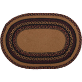 Country Primitive Heritage Farms Crow Braided Oval Rug